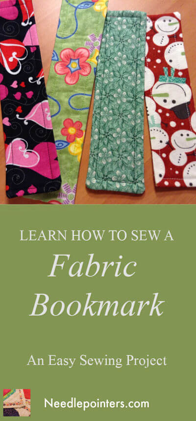 Fabric Bookmark - Pin