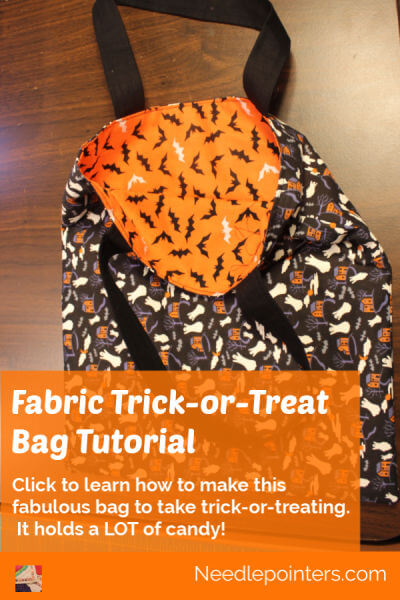 Sewing Halloween Trick Or Treat Bag Tutorial - pin
