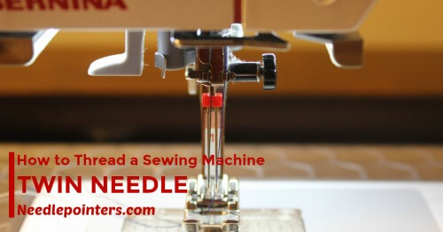 How to Thread your sewing machine with a twin needle