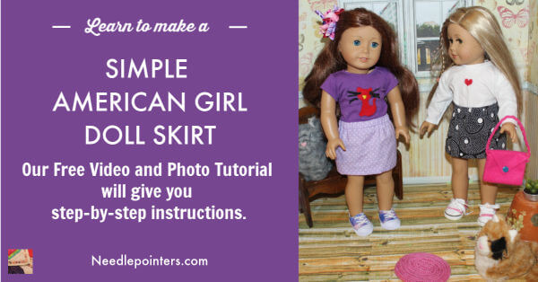 Simple American Girl Doll Sized Skirt