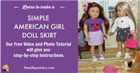American Girl Doll Simple Doll Skirt