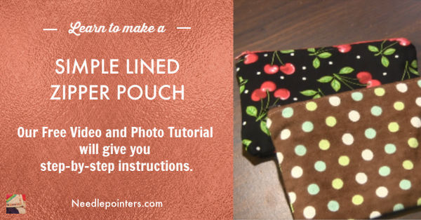 Simple Lined Zipper Pouch Tutorial