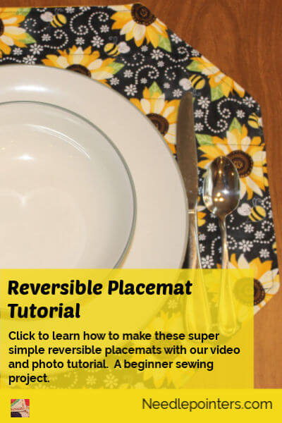 Super Simple Reversible Placemat - pin