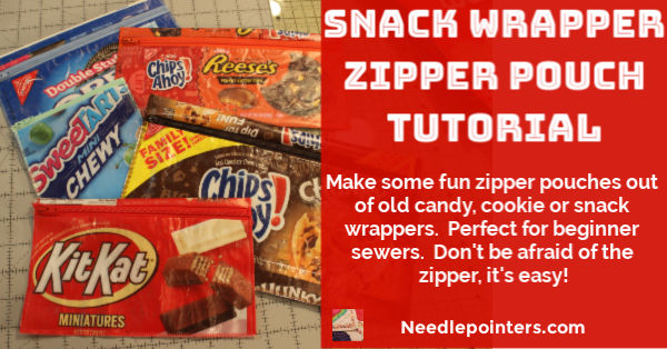 Snack Wrapper Zipper Pouch Tutorial - fb