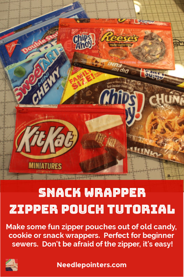 Snack Wrapper Zipper Pouch Tutorial - pin