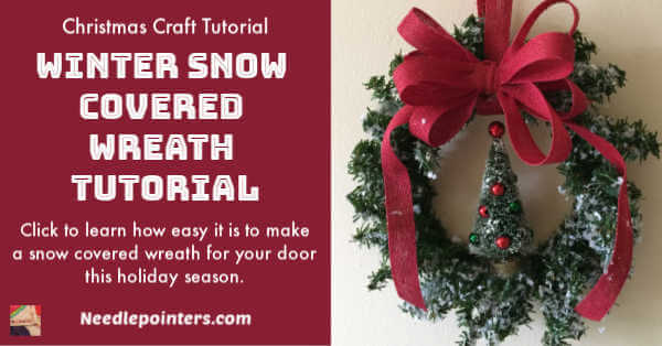 Snow Covered Winter Wreath Tutorial - ad
