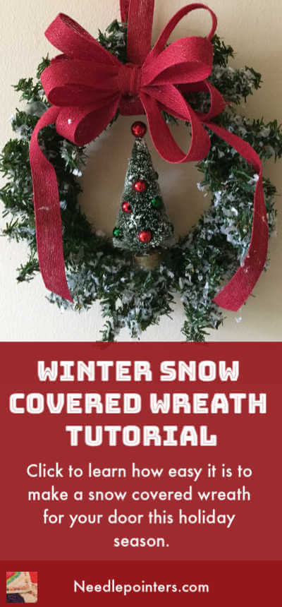 Snow Covered Winter Wreath Tutorial - pin