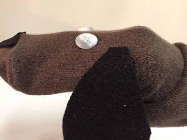 Dog Sock Puppet - closeup