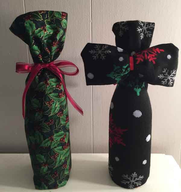Sock Wine Bottle Cover - Two Wine Bottle Covers