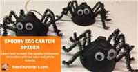 Halloween Spooky Egg Carton Spiders