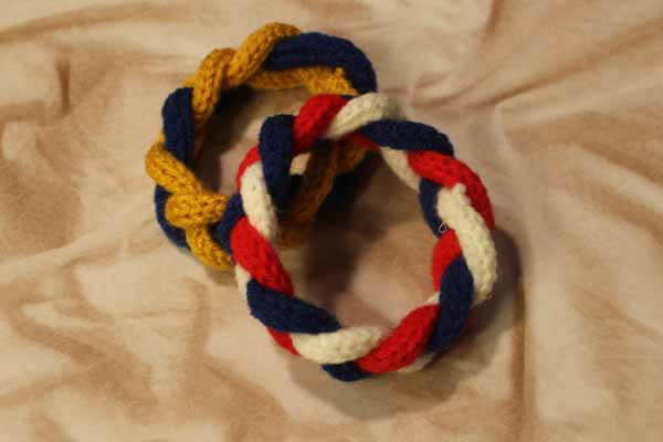 Spool Knitted Braided Bracelet - Two Bracelets