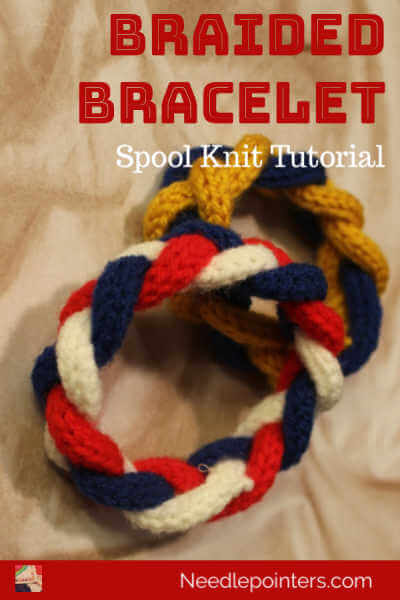 Spool Knitted Braided Bracelet Tutorial