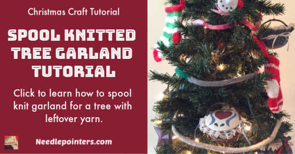 Spool Knitted Tree Garland Tutorial - ad