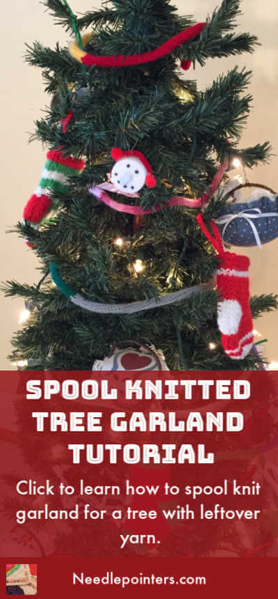 Spool Knitted Tree Garland Tutorial - pin