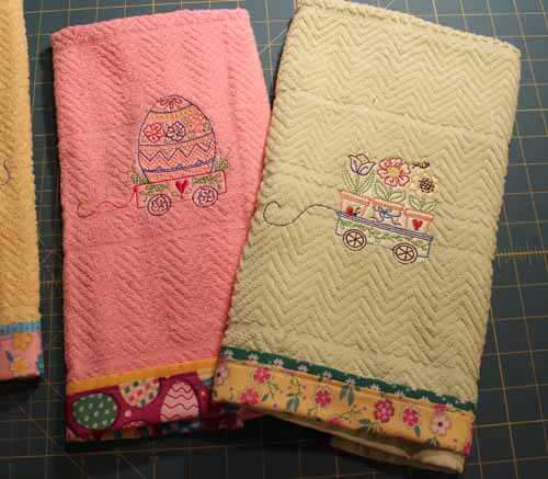 How to Sew Border on Towel