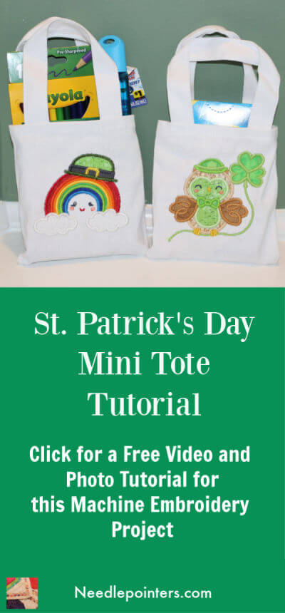 St Patricks Day Mini Tote Tutorial Pin