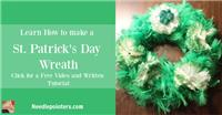 St. Patrick's Day Wreath (Dollar Store Craft)