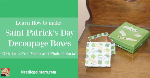 Learn how to Decoupage a Box using Scrapbooking Paper