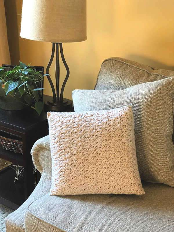 Crochet and Fabric Pillow