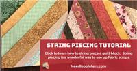 String Piecing with Foundation Paper (String Quilting)