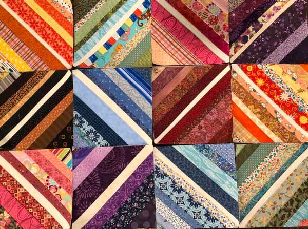 String Piecing Sample - Center Fabric