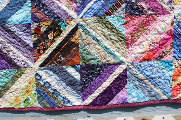 String Quilt - Machine Quilting Closeup