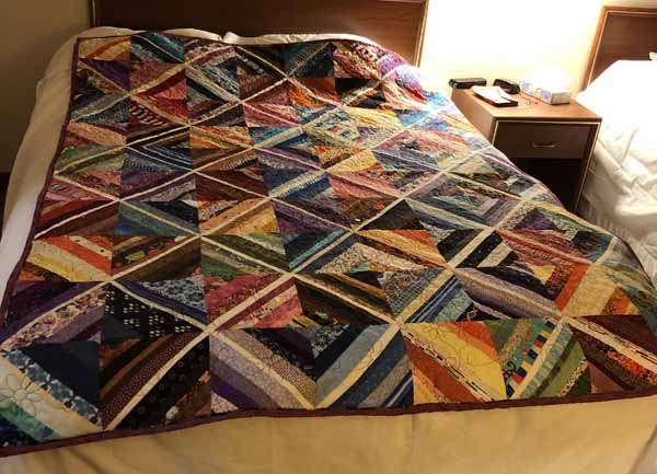 String Quilt - On Double Bed