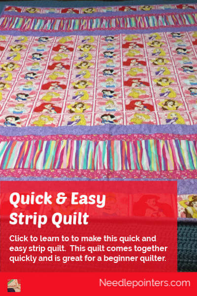 Quick and Easy Strip Quilt - pin