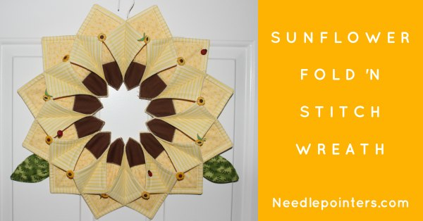 Sunflower Fold'n Stitch Wreath - Facebook