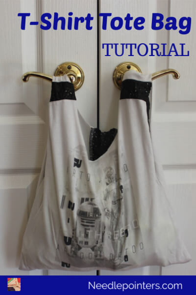 T-Shirt to Tote Bag Tutorial - Star Wars Shirt Pin