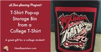 T-Shirt Pop Up Storage Bin