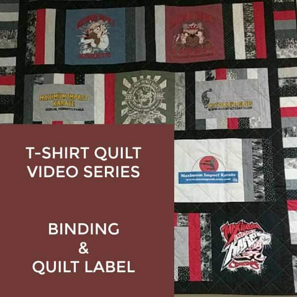 T-Shirt Quilt Binding & Label