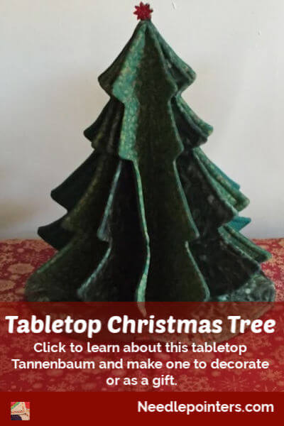 Tabletop Christmas Tree - pin