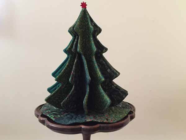 Tabletop Tannenbaum Tree - Completed on Table