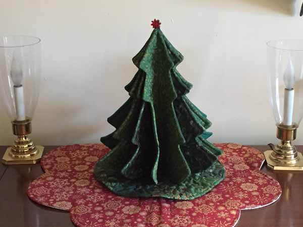 Tabletop Tannenbaum Tree - Completed with Lights