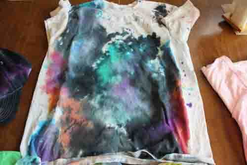 Tie Dyed Shirt Painted Galaxy
