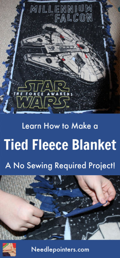 Tied Fleece Blanket Tutorial
