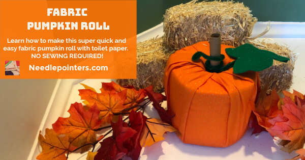 Fabric Toilet Paper Roll Pumpkin - facebook