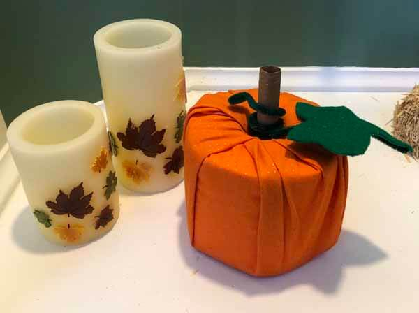 Fabric Toilet Paper Roll Pumpkin - Staged