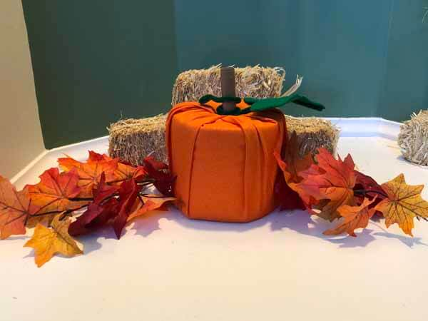 Toilet Paper Fabric Pumpkin Roll