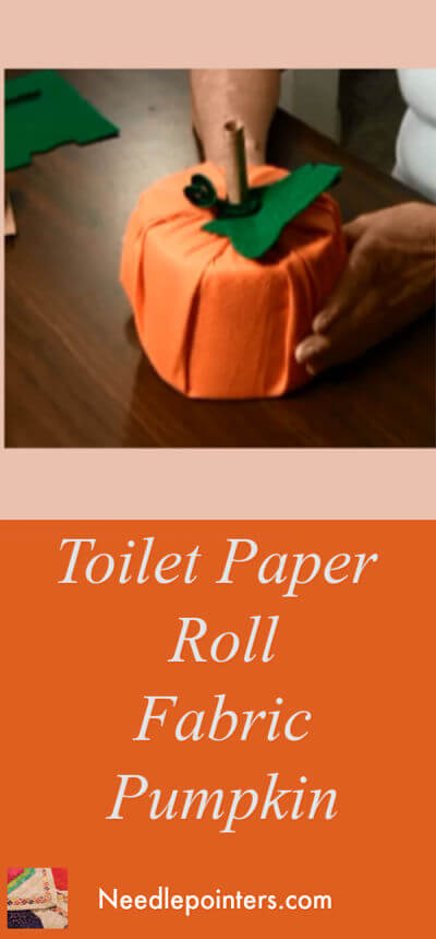 Fabric Toilet Paper Roll Pumpkin
