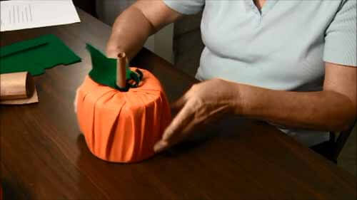 Fabric Toilet Paper Roll Pumpkin - Insert into Roll