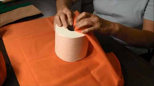 Fabric Toilet Paper Roll Pumpkin - Wrap Roll