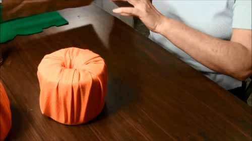 Fabric Toilet Paper Roll Pumpkin - Wrapped Roll