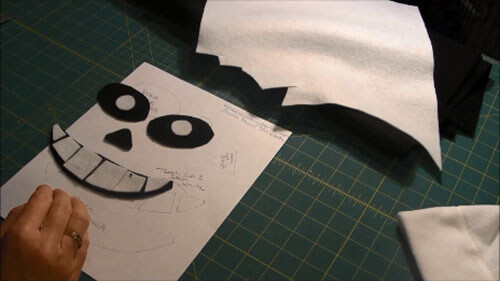 Undertale Sans Hat Tutorial - Cut Out Pieces