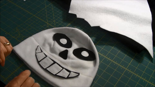 Undertale Sans Hat Tutorial - Pieces on Hat