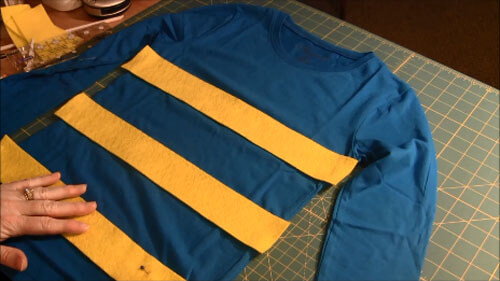 Undertale Temmie Costume Tutorial - Place Stripes