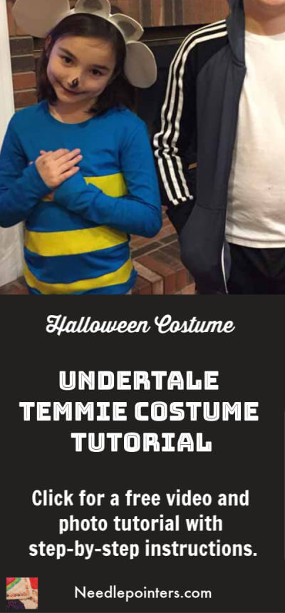 Undertale Temmie Costume Tutorial - pin