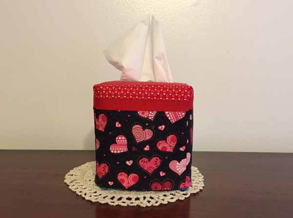 Valentines Tissue Box Cover Project