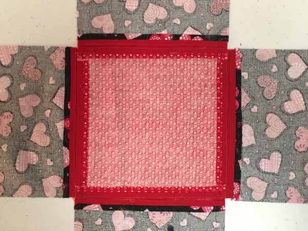 Valentines Tissue Box Cover - Gluing